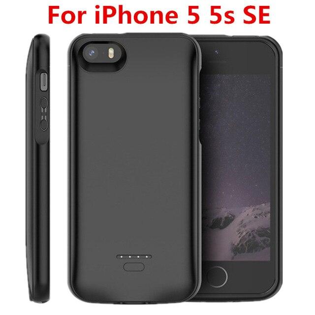 Горячая батарея 4000mAh зарядное устройство чехол для iPhone SE 5SE 5 5S зарядное устройство чехол для iPhone 5 5S SE 5SE батарея Чехол