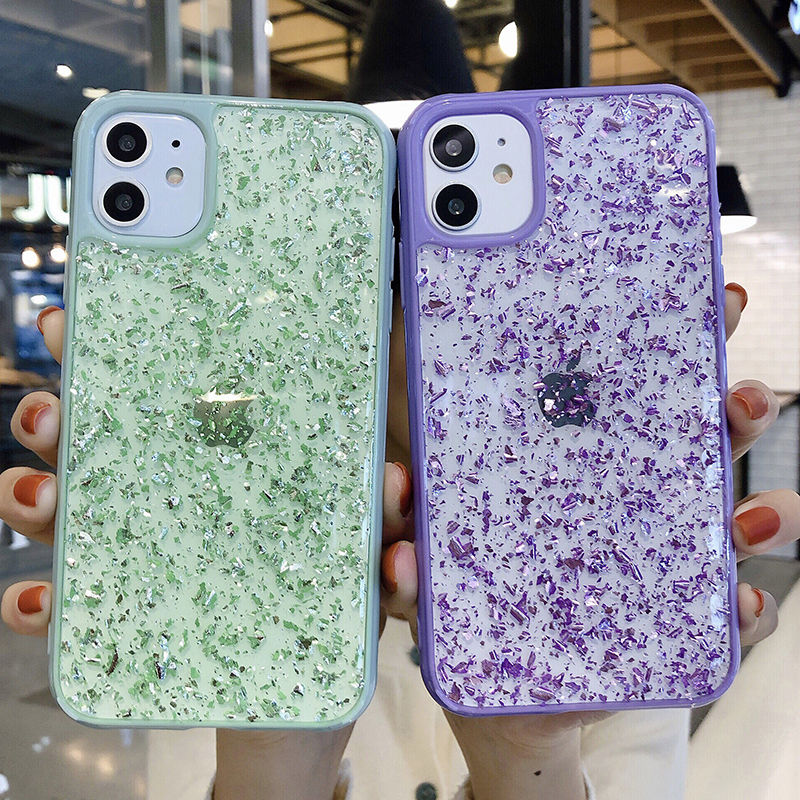 Золотой фольга карамельный цвет рамка чехол для телефона для iphone 11Pro XS Max X XR 8 7 6 6s Plus блестящая мягкая прозрачная Противоударная задняя крышка