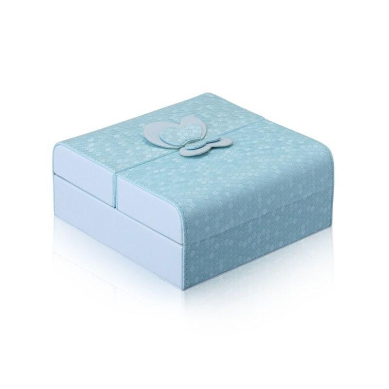 Único design de borboleta caso de jóias feminino viagens carry box organizador portátil jewerly caixa de armazenamento