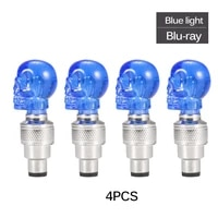 4pcs skull shape valve cap led light high quality wheel tyre lamp for car motorbike bike cycling bicycle decoration m20