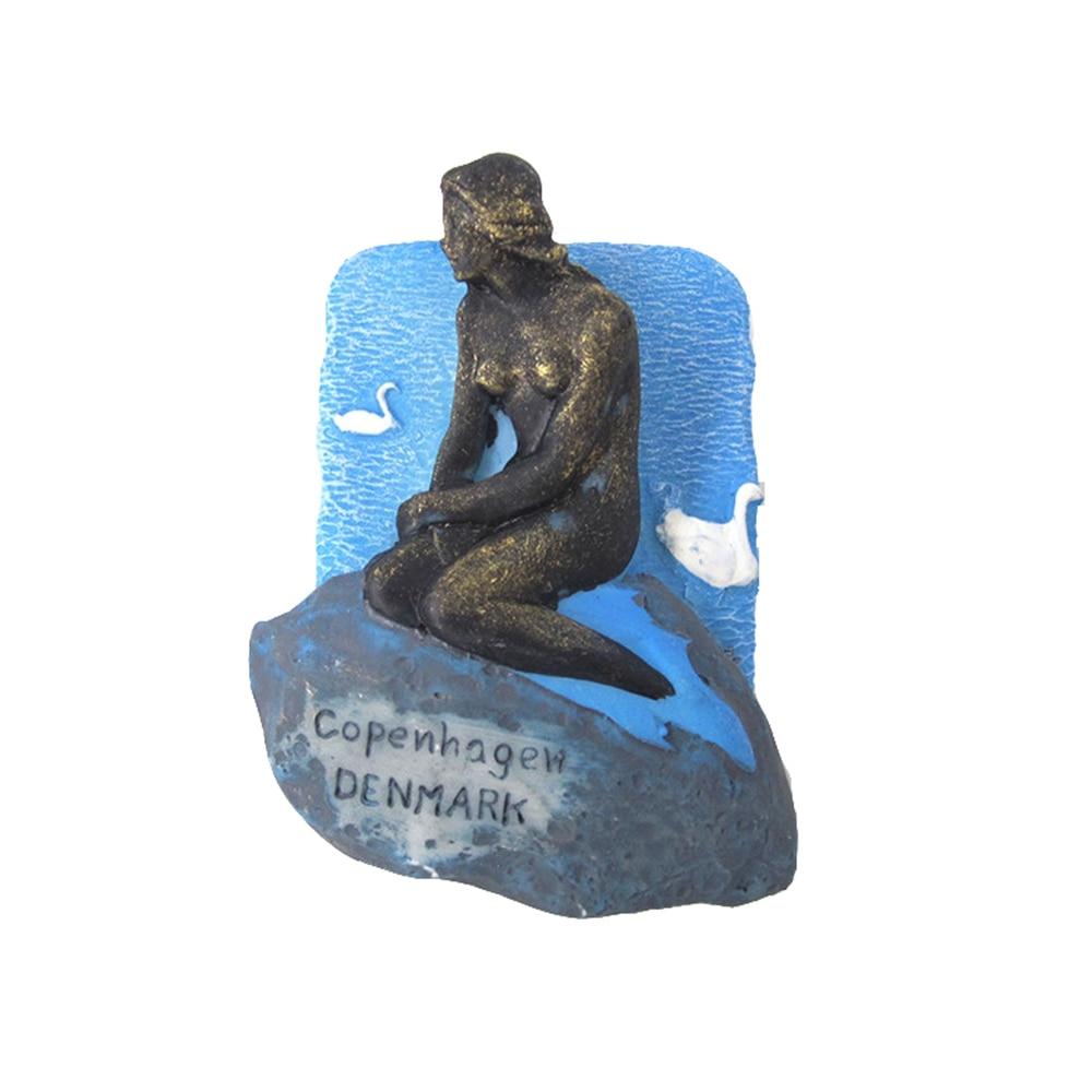 Imán de nevera souvenir pegatinas para refrigerador accesorios de decoración moderna Souvenirs magnéticos cocina Renna Mermaid