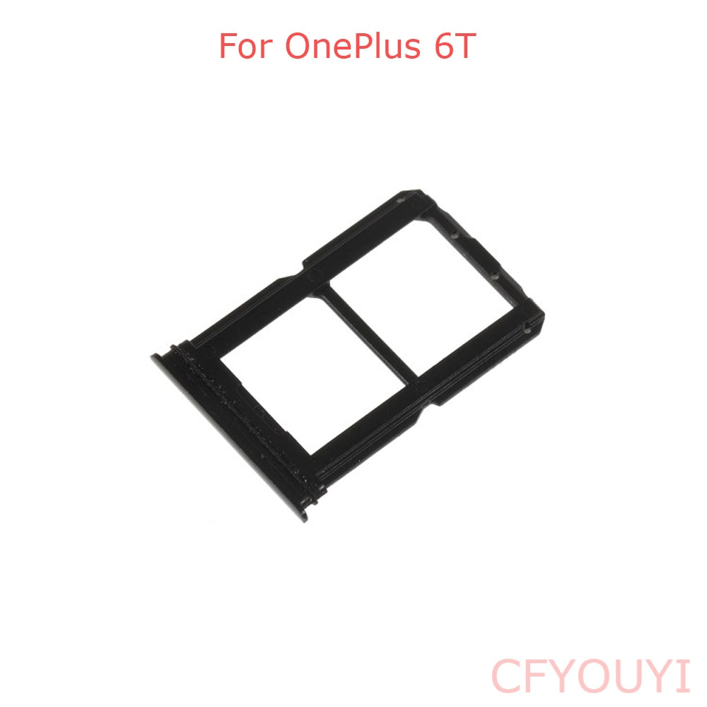 For Oneplus 6T Dual SIM Card Tray Holder Slot Replacement Part For 1+ 6T