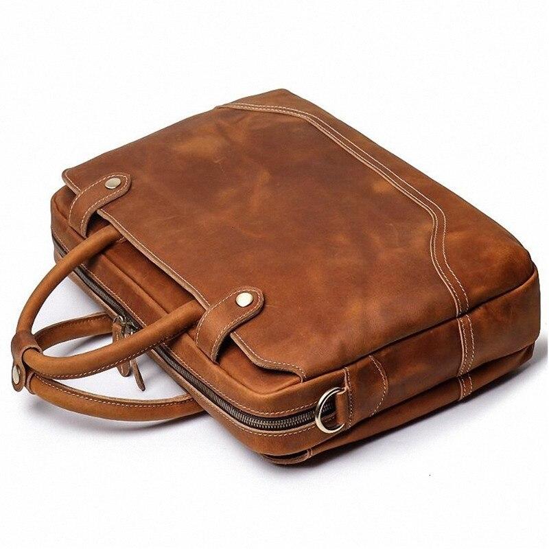 جلد طبيعي الكمبيوتر حمل يد ل ماك بوك برو 15 الرجال كمبيوتر محمول الفاخرة حقائب رجل حقيبة مصمم جودة عالية الكتف أكياس
