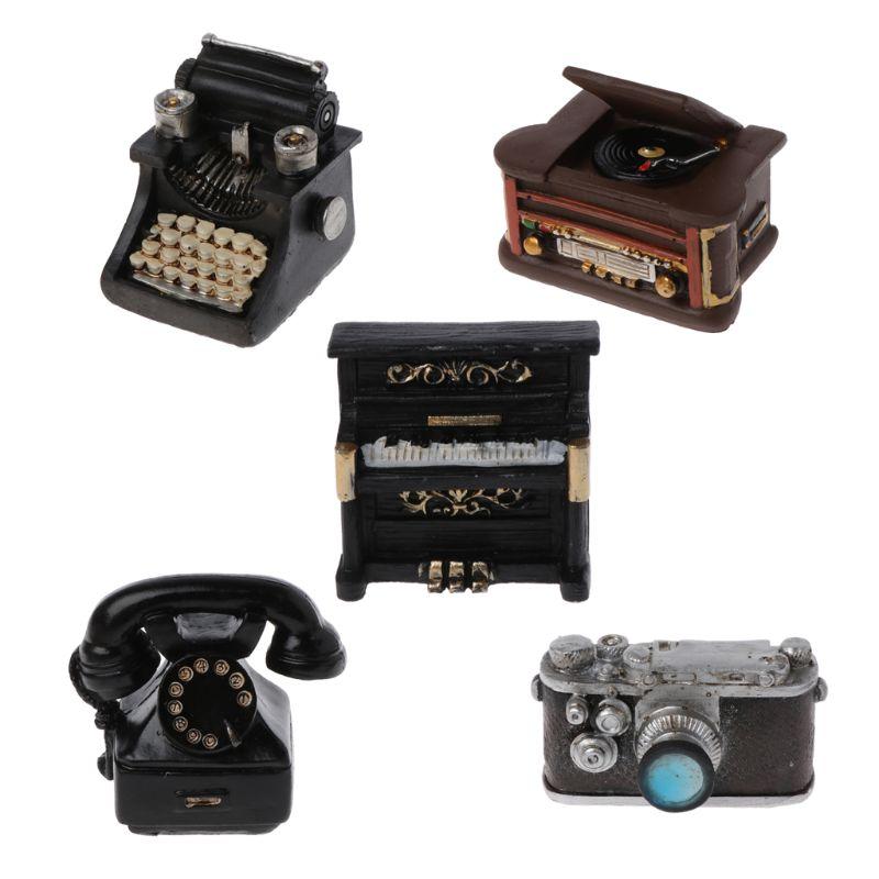 Accesorios de fotografía recién nacido, accesorios DIY para niños, accesorios de estudio, Mini Decoración Retro de resina, creación de pequeña cámara para caballeros