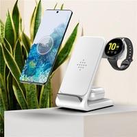 Беспроводное зарядное устройство Qi для Samsung iPhone, Беспроводная зарядка для iWatch 5 4 3 2 1 Airpods TWS для Galaxy Watch 3 S2 S3 S4 S5 /Buds