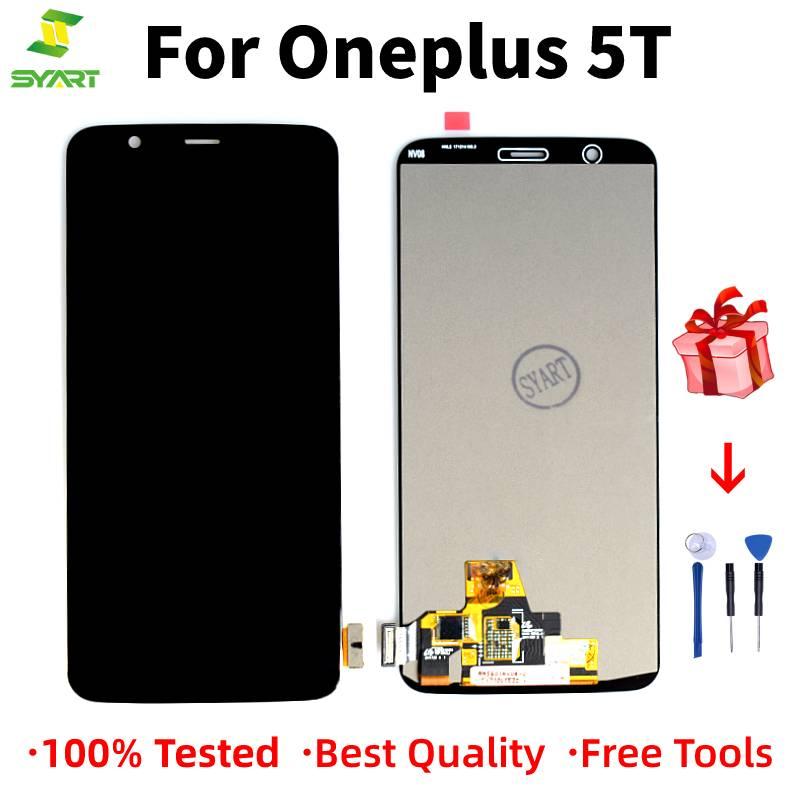 100% Original para OnePlus 5T A5010, LCD, montaje de digitalizador con pantalla táctil para Oneplus 5T, pantalla de repuesto con marco 1 + 5T