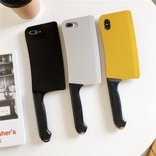 Funda de teléfono con divertido cuchillo de cocina para Samsung Galaxy A51 A71 S20 + S20 Ultra Note 8 9 10 20, funda blanda de silicona 3D de lujo creativa