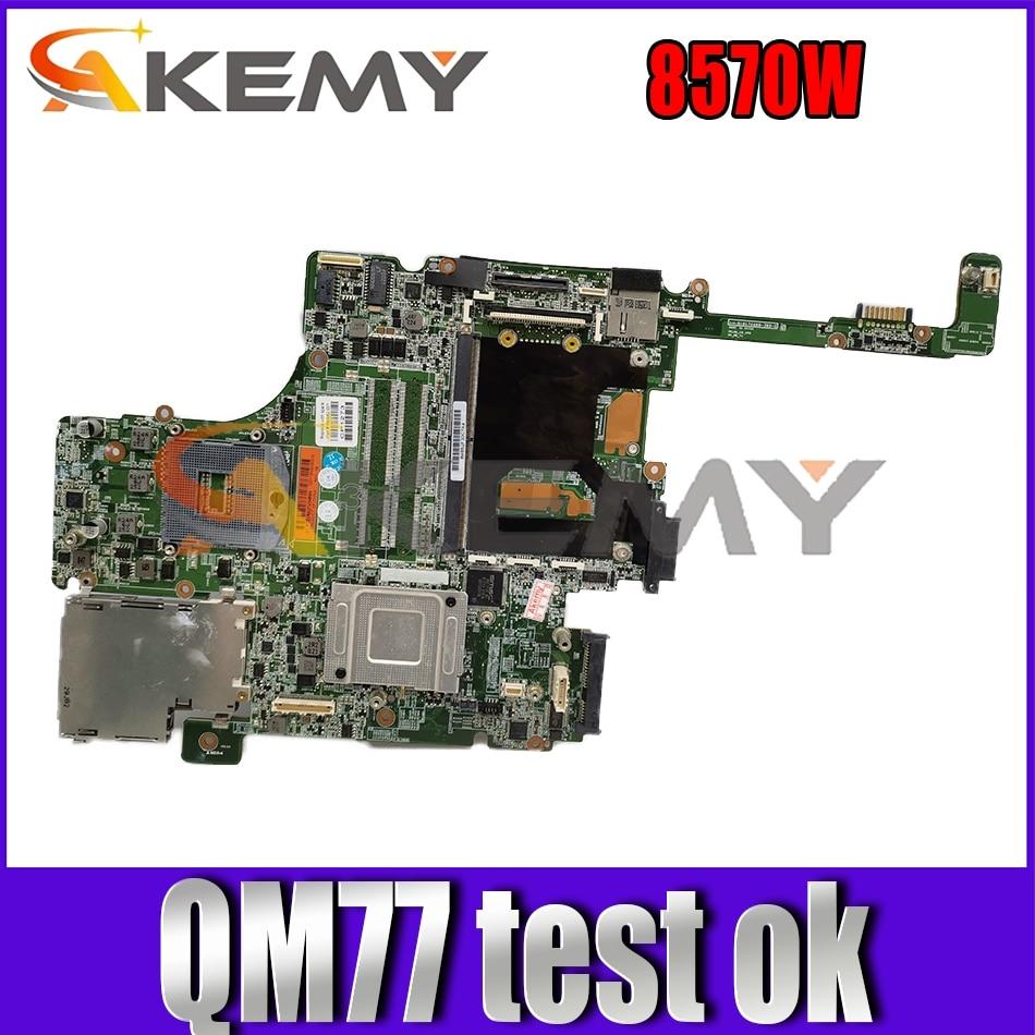 690642-001 690642-601 محمول لوحة رئيسية لأجهزة HP بي Elitebook 8570W QM77 2 Ram فتحة مفكرة اللوحة 010176600 SLJ8A 695955-001