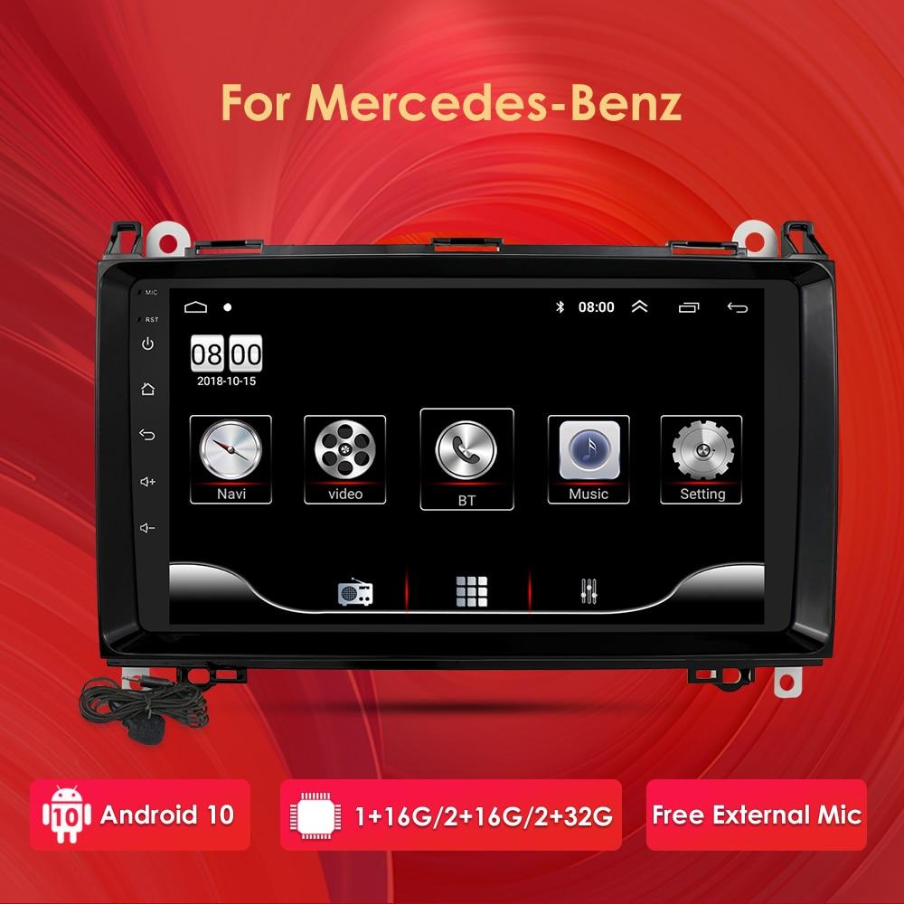 Lecteur multimédia de voiture Navigation GPS radio pour Mercedes Benz W169 W245 Viano Vito W639 Sprinter W906 Android 10.0 wifi 4G USB