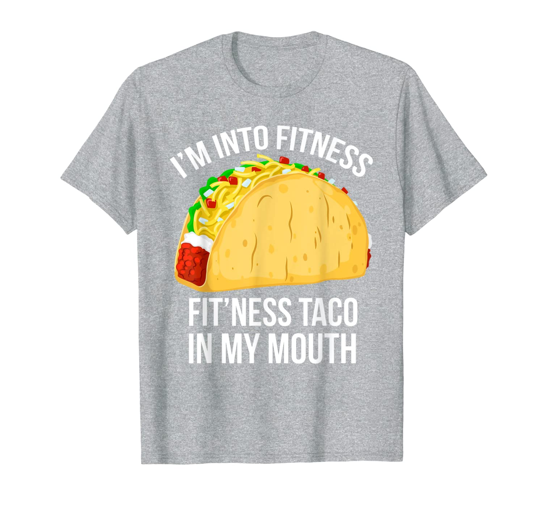 Я в фитнес-футболке-Фитнес Taco In My Mouth футболка
