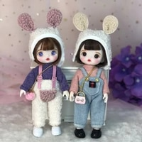 16cm cute blyth doll joint body fashion bjd dolls toys with dress shoes wig make up gifts for girl