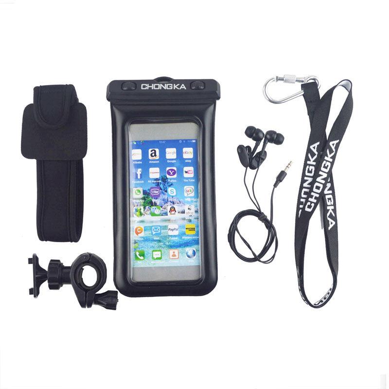عالية الجودة لسامسونج غالاكسي S8 مقاوم للماء قضية الهاتف شفافة مع شارة وسماعات الأذن