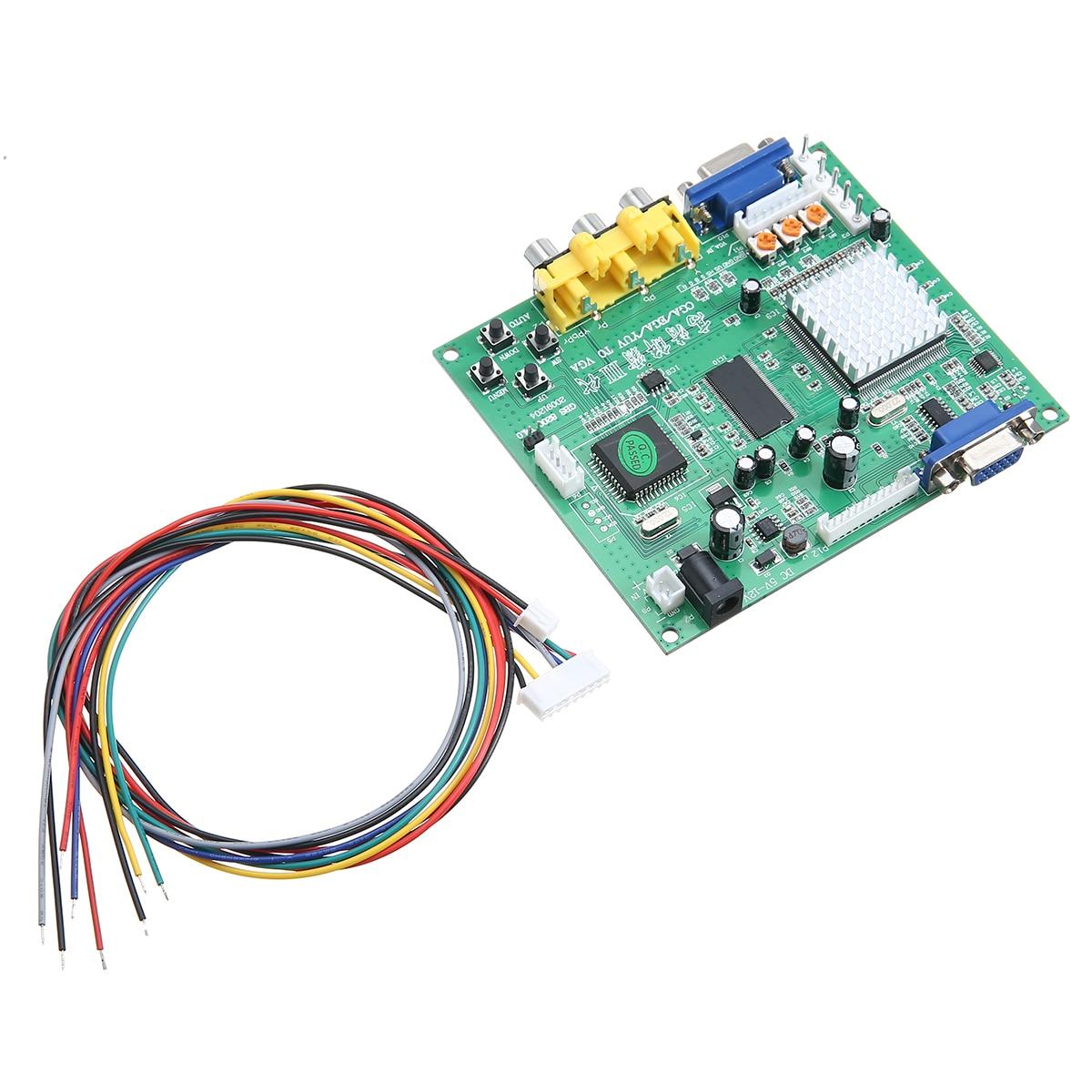 Hohe Qualität GBS8200 Video Converter Board Platte Für RCA zu VGA Arcade Spiel HD Gaming Umwandlung Boards W/Draht