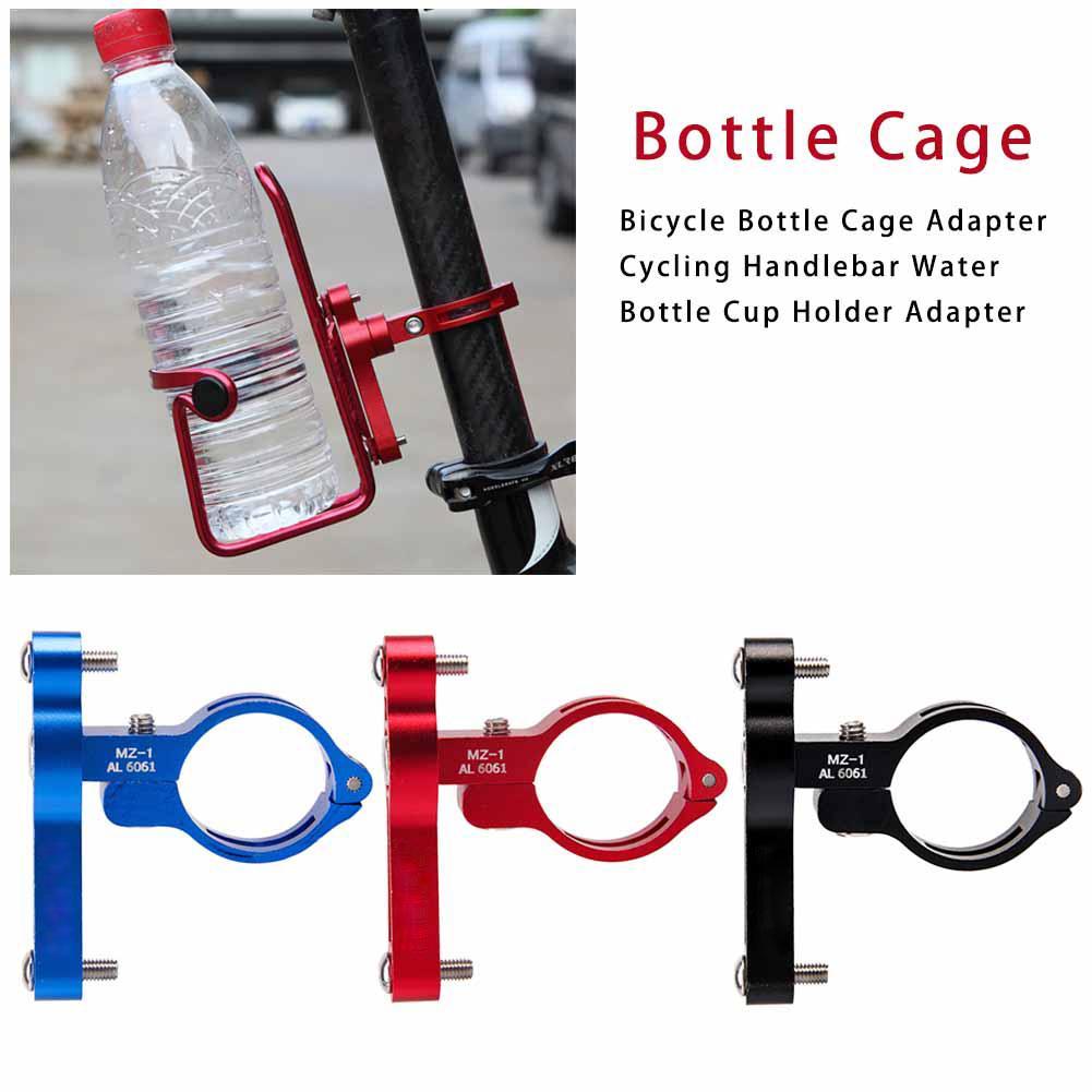 Bicicleta MTB botella de agua Clip jaula soporte abrazadera manillar soporte montaje sillín manillar delantero horquilla marco tubo 6061 CNC