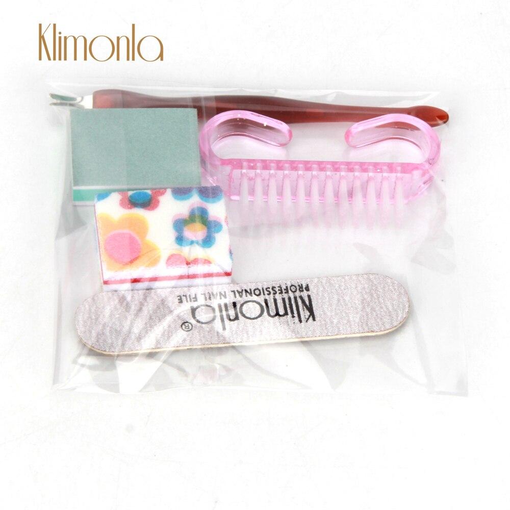 Juego de 3 tiras de tope de lijado para pulir y manicura uñas, accesorios de salón usados como regalo pequeño