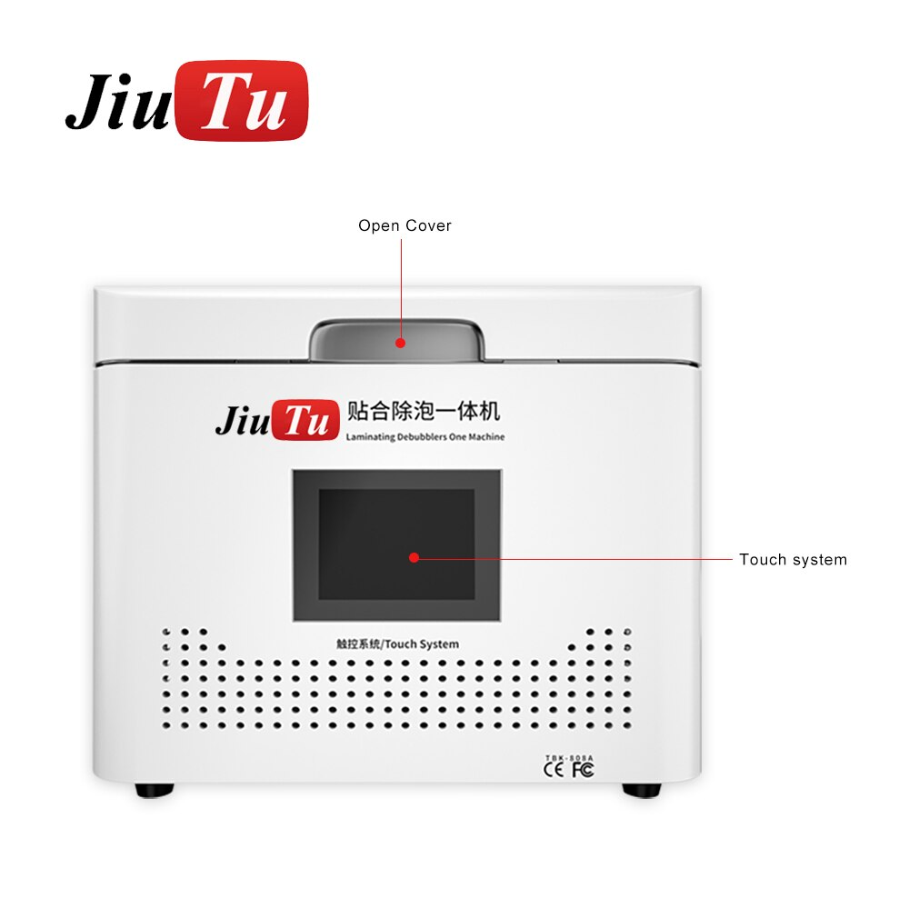 Jiutu All In One Vacuum Lamination Machine With Debubble For Flat Edge Screen Front Glass LCD Refurbish Under 13 Inch