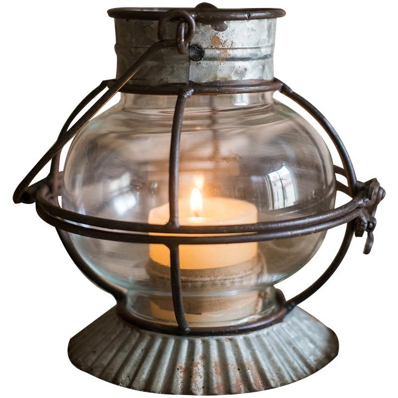 Candelabros votivas con decoración de vidrio, candelabro Negro Nórdico, lámpara de pared con luz de océano, candelabro, decoración, Hogar, decoración AD5C