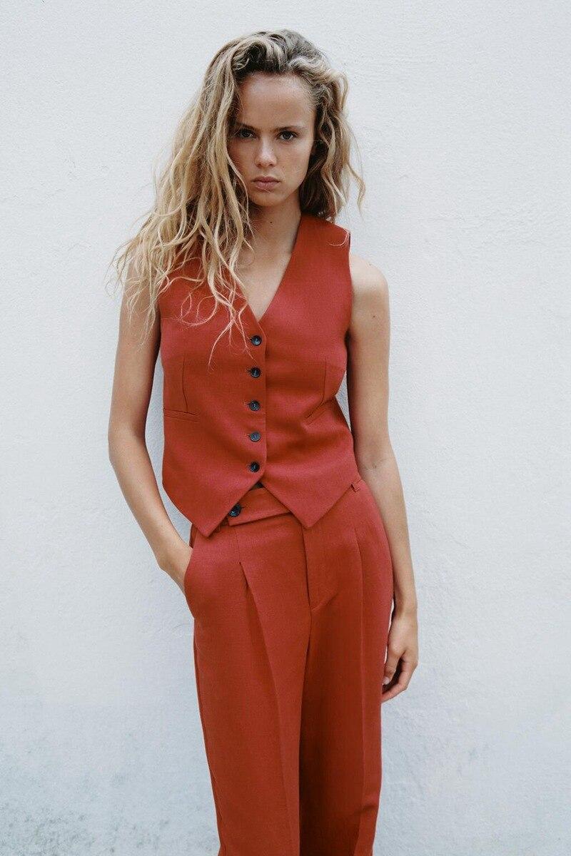 2021 Модные женские костюмы Офисная Женская деловая Рабочая форма Формальные брючные костюмы женские брюки жилет