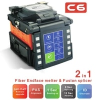 multi language comway c6 optical fusion splicer fiber endface melter 2 in 1 high precision alignment pas arc splicing machine
