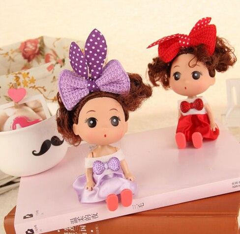 EHBqna, 1 unidad, Mini muñeca para Ddung, muñeca de moda, juguetes de regalo para fiesta de boda, decoración del hogar de la suerte, 12cm