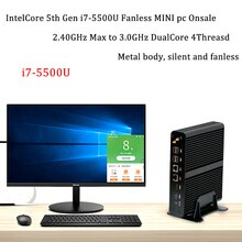 Nuovo KabyLake Intel Core i7 7560U/7660U 3.8 GHz Mini PC Fanless Mini PC porta Ottica 2 * lan Intel Iris più Grafica 640 DDR4 Barebone PC