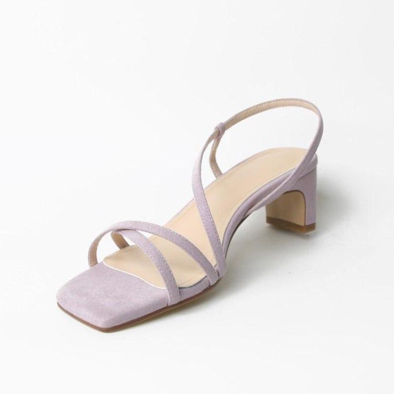 Sandálias de Salto Verão Sandálias Femininas Moda Lazer Suave Confortável Alternando Único Sapato Alto Feminino Antiderrapante 2021