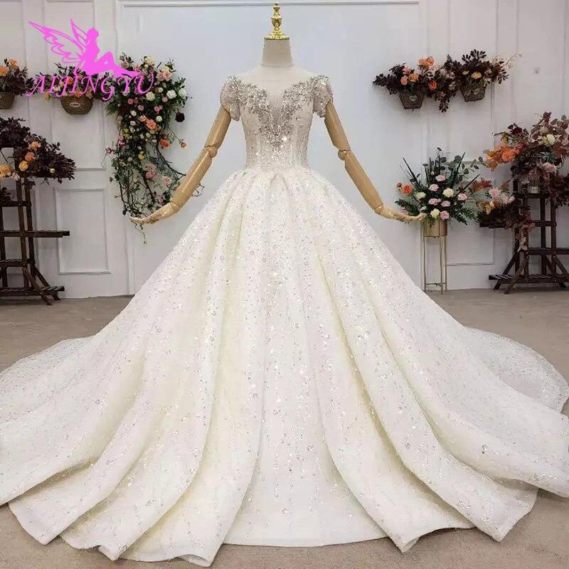 AIJINGYU فساتين زفاف متواضعة مثيرة مذهلة 2021 فستان هندي جديد شحن مجاني على فساتين زفاف كبيرة الحجم