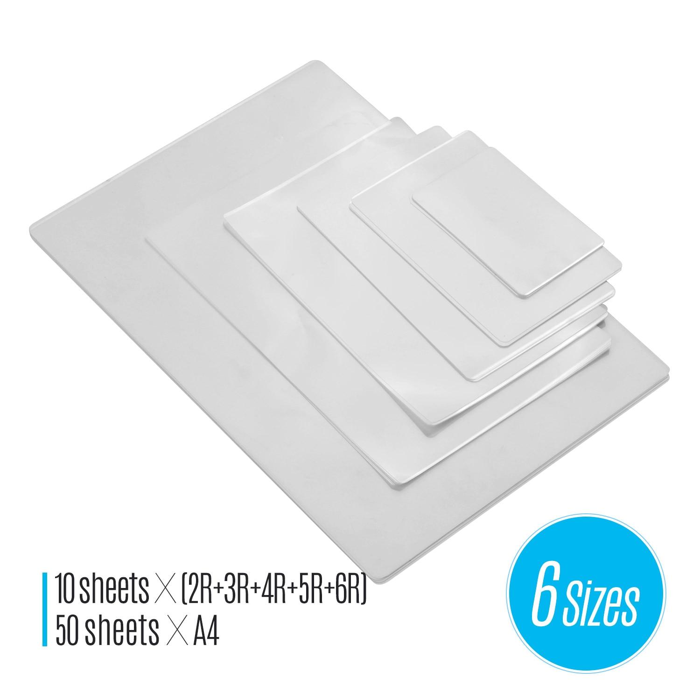 80 MIC bolsas de película de laminación térmica PET hoja transparente papel fotográfico Documento de imagen laminación para laminadora de máquina