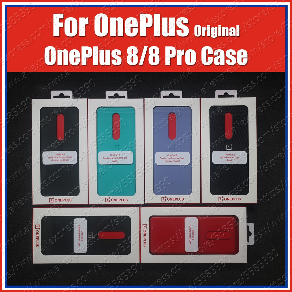 Cyan Official sealed Oneplus 8 Pro Case Original IN2020 Carbon Bumper Oneplus 8 Case IN2010 Clear Sa