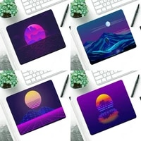 vaporwave art gamer speed mice retail small rubber mousepad small pads rubber mouse mat mousepad desk gaming mousepad cup mat