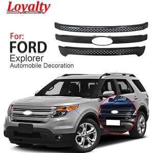 Loyalty for Ford Explorer Base/XLT/Limited 2011 2012 2013 2014 2015 Front Engine Grille Cover Black Car Accessories