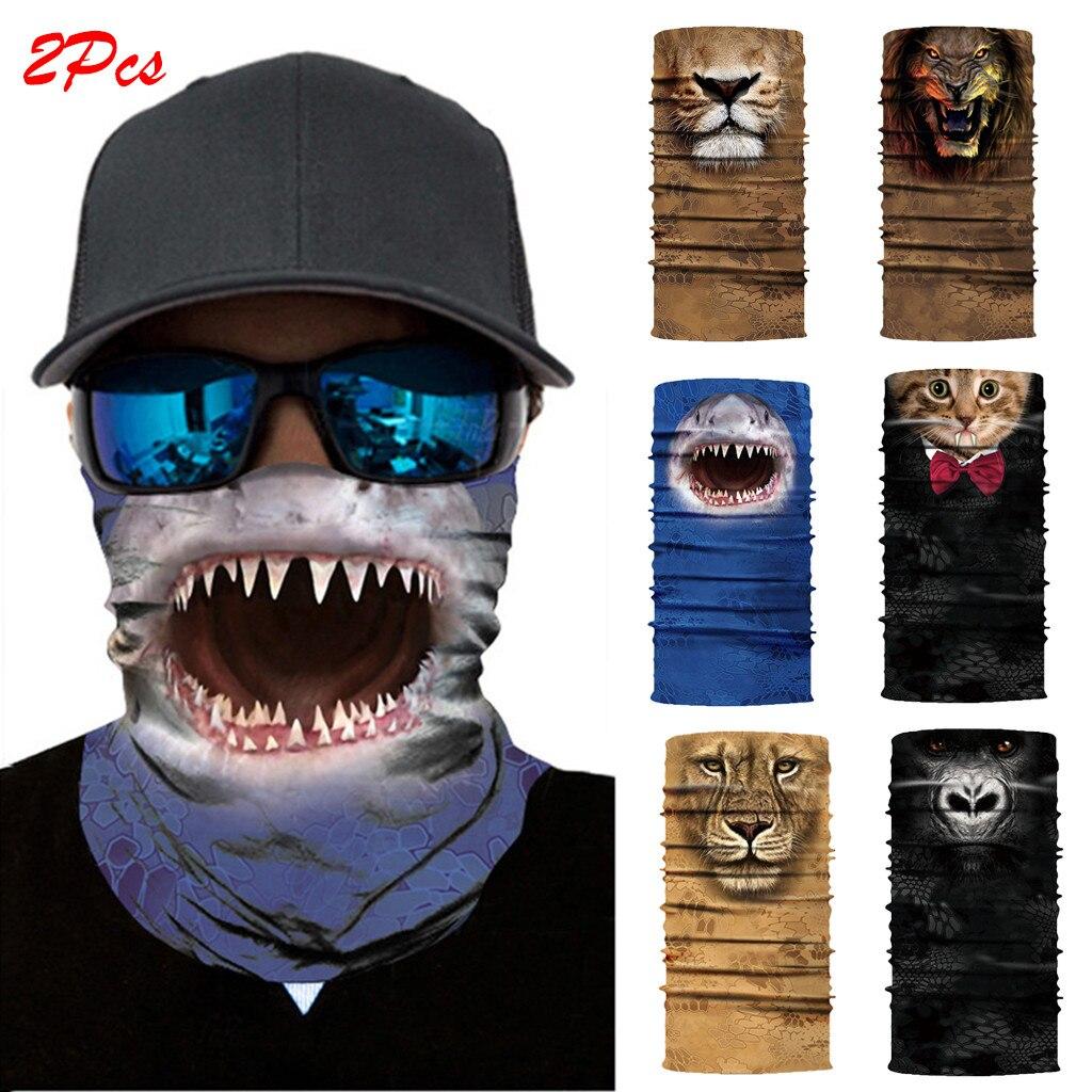 3d sem costura pescoço bandana horror demônio vampiro crânio máscara facial bandana bandana headwear bicicleta zumbi batman bandanas