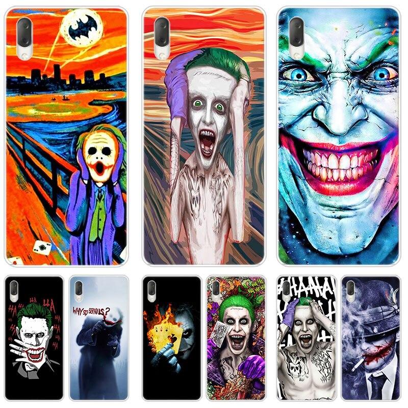 Hot Clown Joker Case For Sony Xperia X XA XA1 XA2 Ultra L1 L2 L3  E5 XZ XZ1 XZ2 Compact XZ3 M4 Aqua Z3 Z5 Premium Cover