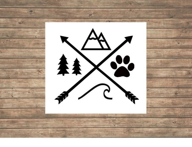 Виниловая наклейка для автомобиля с этническими животными, новый дизайн, украшение для окна автомобиля