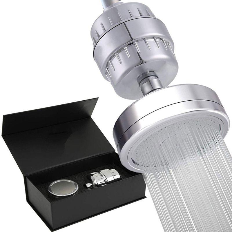 1 مجموعة عالية ضغط تصفيتها دش رئيس 15 مرحلة دش فلتر تنقية الماء العسر المواد الضارة مزيل للحمام