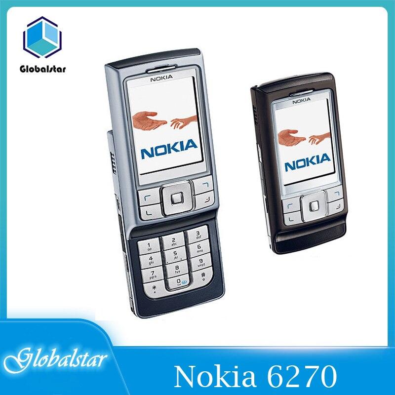 Перейти на Алиэкспресс и купить Nokia 6270 Восстановленное Оригинальный разблокирована Nokia 6270 слайд телефон 2,2 дюймGSM мобильный телефон с Bluetooth, FM радио, бесплатная доставка