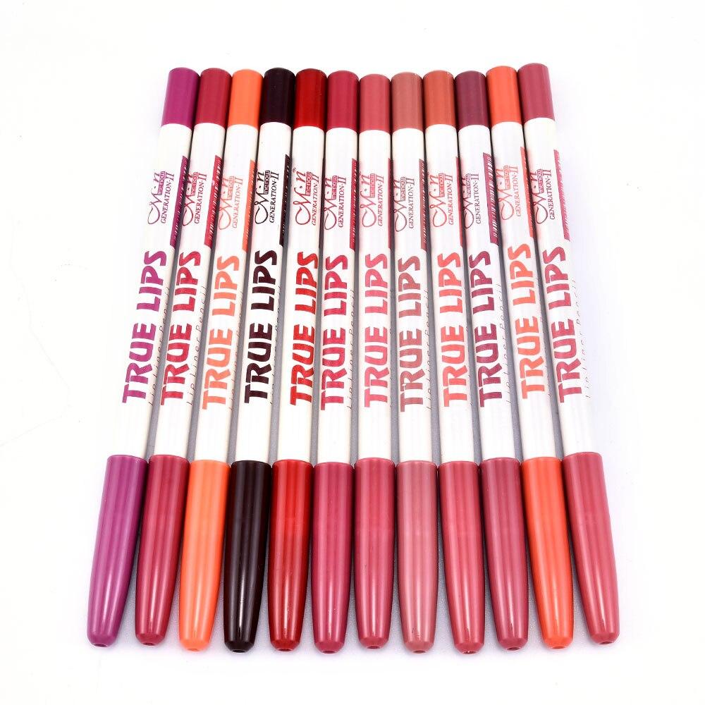 6 unids/set delineador lápiz labial mate impermeable de larga duración de las...