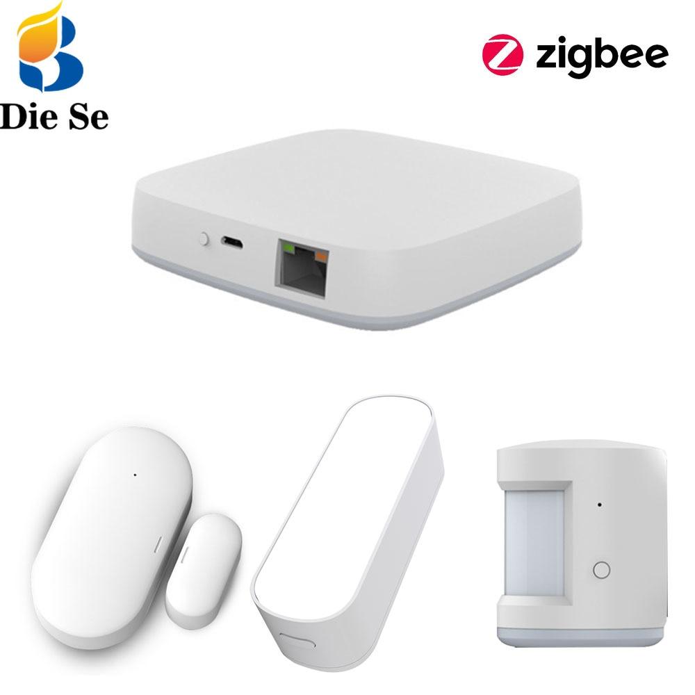 Tuya Smart Life ZigBee Light/ Door Window Sensor Gateway Hub PIR for Building Automated Smart Home Work With Alexa Google Home