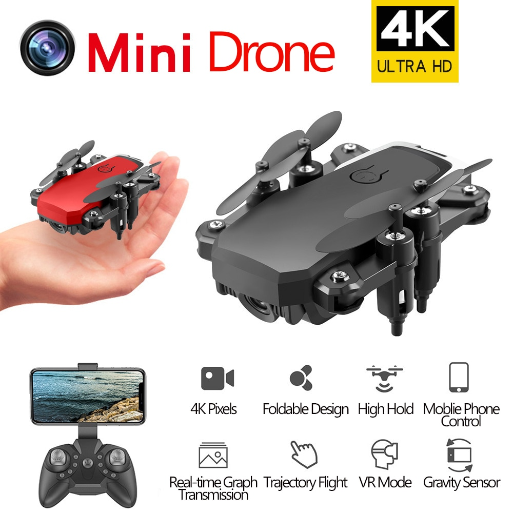 D2 plegable 4K Mini Drone con cuadricóptero RC con gran angular WiFi HD Cámara helicóptero VS Teeggi M69G VISUO XS809HW E58 M69