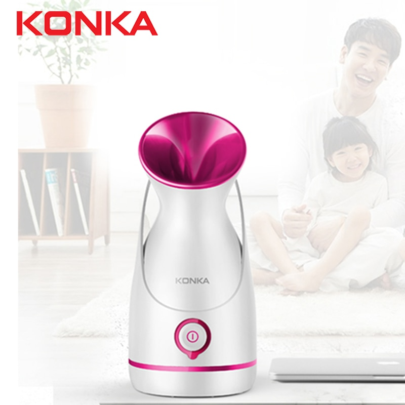 KONKA الكهربائية جهاز بخار الوجه مع 55 مللي خزان المياه الأبيض رذاذ بلازما حراري تبخير الوجه ترطيب أداة رذاذ بلازما حراري الجمال