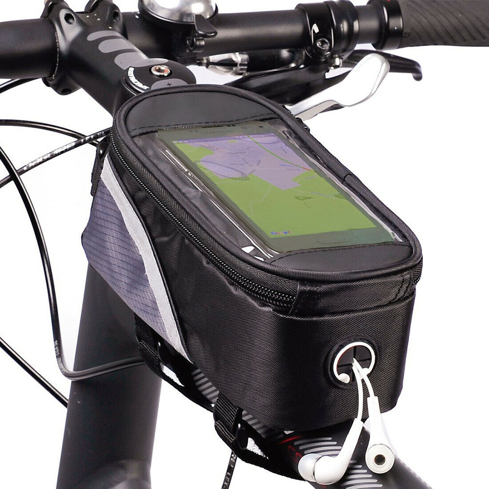 AliExpress - Cycling Bag Bicycle Bike Head Tube Handlebar Cell Mobile Phone Bag Case Holder Screen Phone Mount Bags Case With Touch screen