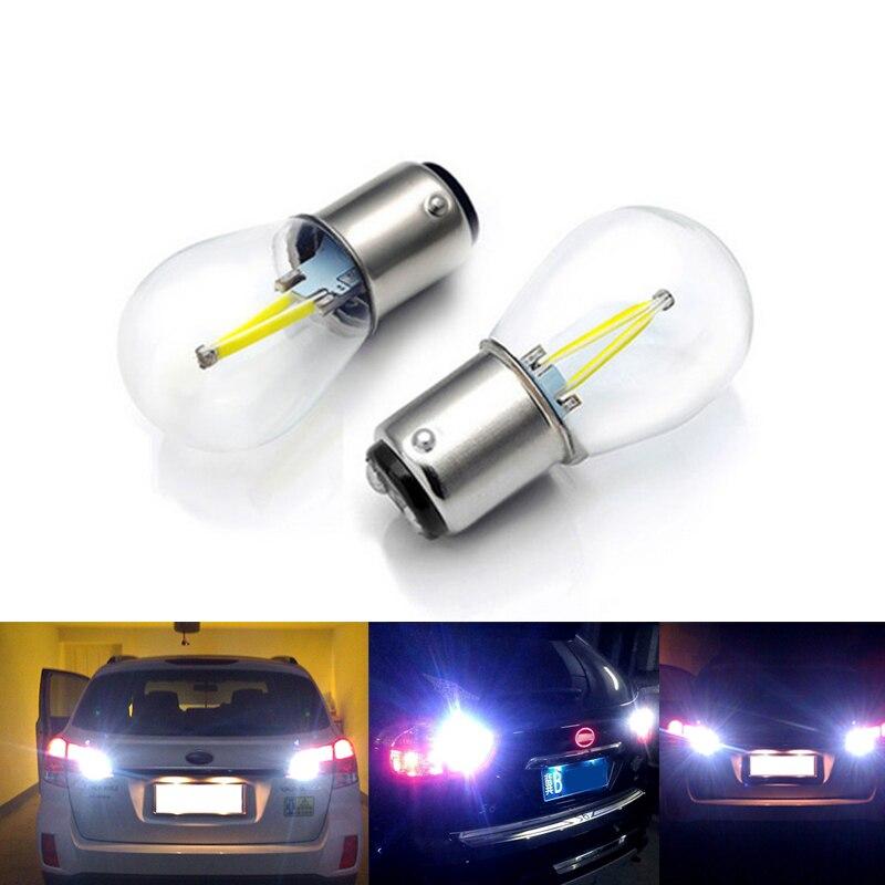 1156 1157 COB 12v Светодиодный лампочки накаливания 2W 4W сигнал поворота Задняя Парковка лампа заднего хода белый красный желтый синий теплый белый