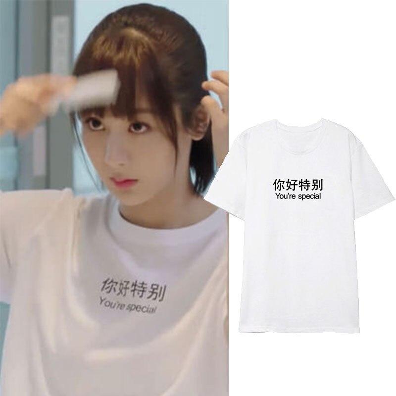 Go Go Squid! Yang Zi T-shirts Tops T Shirt Women Men Couples Short Sleeve Clothes Loose Simple Summer Tee Tshirt