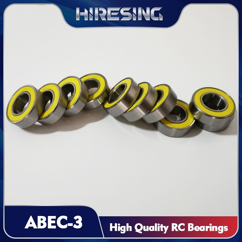 Abec 3 rolamento kit para carro hpi vorza flux selos de borracha amarelo