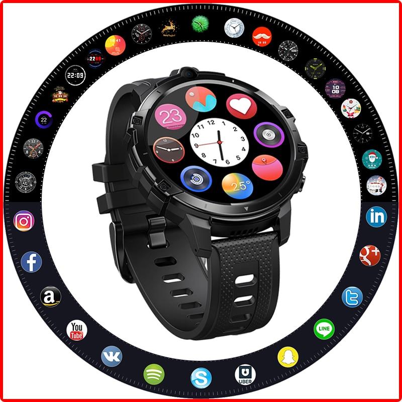 ZEBLAZE-ساعة ذكية Thor 6 ، ساعة ذكية مع android 10 ، 1.6 بوصة ، ثماني النواة ، 64 جيجابايت ، 4G ، واي فاي ، مكالمة هاتفية ، كاميرات مزدوجة 5.0 ميجابيكسل ، لـ Amazfit