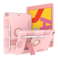 case with pencil holder for ipad 10 2 2019 2020 7 7th 8th gen a2198 a2200 a2197 kids silicone cover case tablet funda capa shell