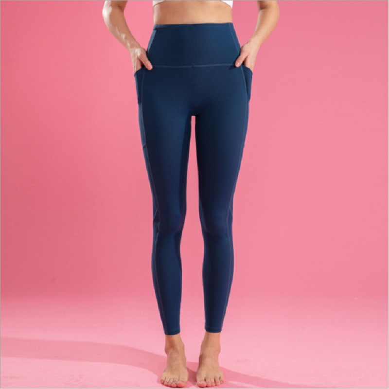 High Waist Yoga Leggings Butt Shape For Women's Sport Pants Fitness Seamless  Gym Girl's Tights With Side Pocket 2020 New Style