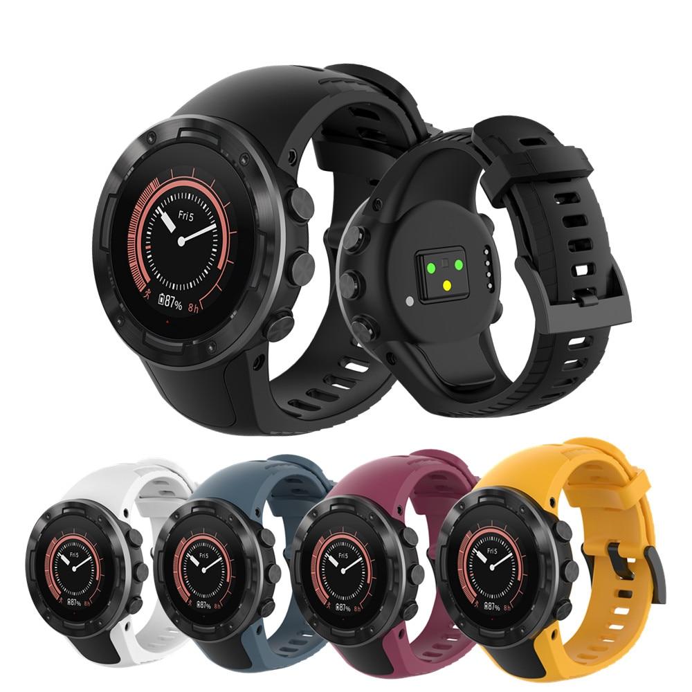 Silicone Watch Strap For SUUNTO 5 Smart Watch For SUUNTO Sport Wrist Strap Silicone Band Replacement Smart Bracelet Accessories