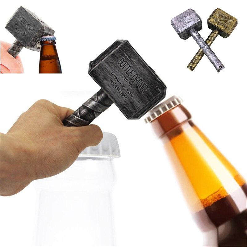 Novo criativo abridor de cerveja vingadores quake criativo martelo abridor com ímã geladeira adesivo barra portátil abs + metal martelo abridor