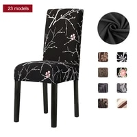 1246pcs spandex chair cover elastic printed dining chair slipcover removable anti dirty kitchen seat case stretch for banquet